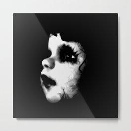 Creepy Doll Face Metal Print
