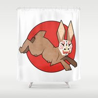 mask Shower Curtains featuring Mask by Berneri
