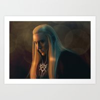 thranduil Art Prints featuring Thranduil by LindaMarieAnson