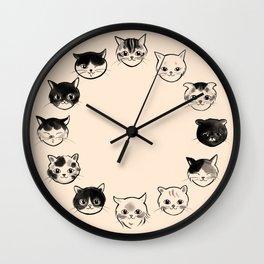 Cats Hair Styles Wall Clock