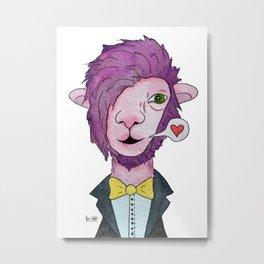 Pink lama Metal Print
