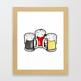 Beer German Flag Germany Present Gift Framed Art Print