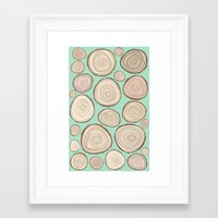 tree rings Framed Art Prints featuring Tree Rings by Jackie Sullivan