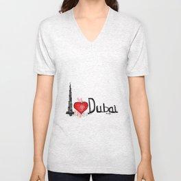 I love Dubai 1 Unisex V-Neck