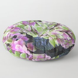 Pink & Green Hydrangea Floor Pillow