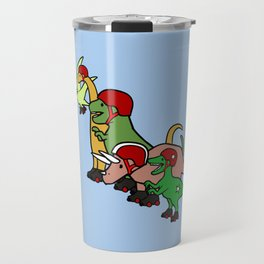 Roller Derby Dinosaurs Travel Mug