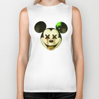 mickey Biker Tanks featuring Mickey by wrong planet