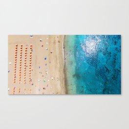 AERIAL. Summer beach Canvas Print