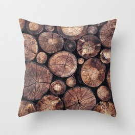 The Wood Holds Many Spirits Throw Pillow