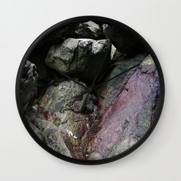 Ocean Weathered Cave Rock Formation Cornwall Wall Clock