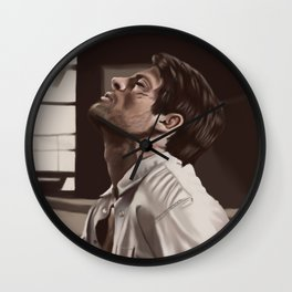 Castiel captured  Wall Clock