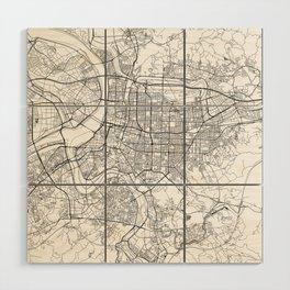 Taipei White Map Wood Wall Art