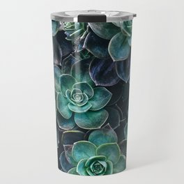 Succulent Blue Green Plants Travel Mug