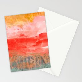 coral horizon Stationery Cards