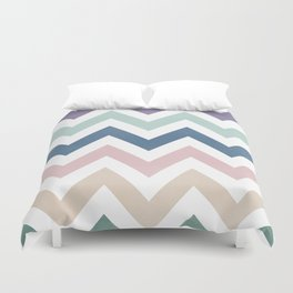 MUTED CHEVRON {COOL TONES} Duvet Cover