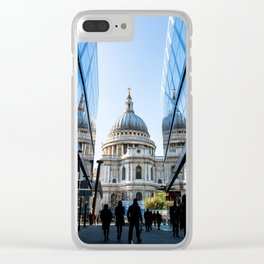 London City Blue Clear iPhone Case