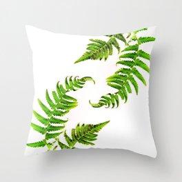 Fern on white - double Throw Pillow