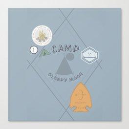 Camp Sleepy Moon Merit Badge Canvas Print