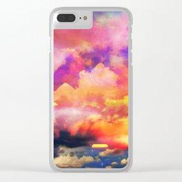 lollipop sunset Clear iPhone Case