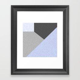 Gray , blue , patchwork Framed Art Print