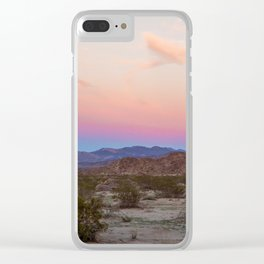 Sunset at Joshua Tree Clear iPhone Case