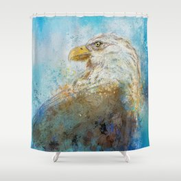 Expressive Bald Eagle Shower Curtain