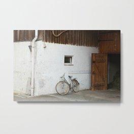 Barn with bicycle, Bavaria Metal Print