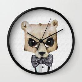Mr Bow Bear Wall Clock