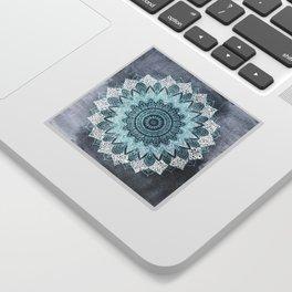 BOHOCHIC MANDALA IN BLUE Sticker