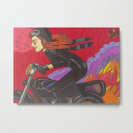 Motorbike to Heaven Metal Print