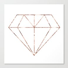 Rose gold foil diamond Canvas Print