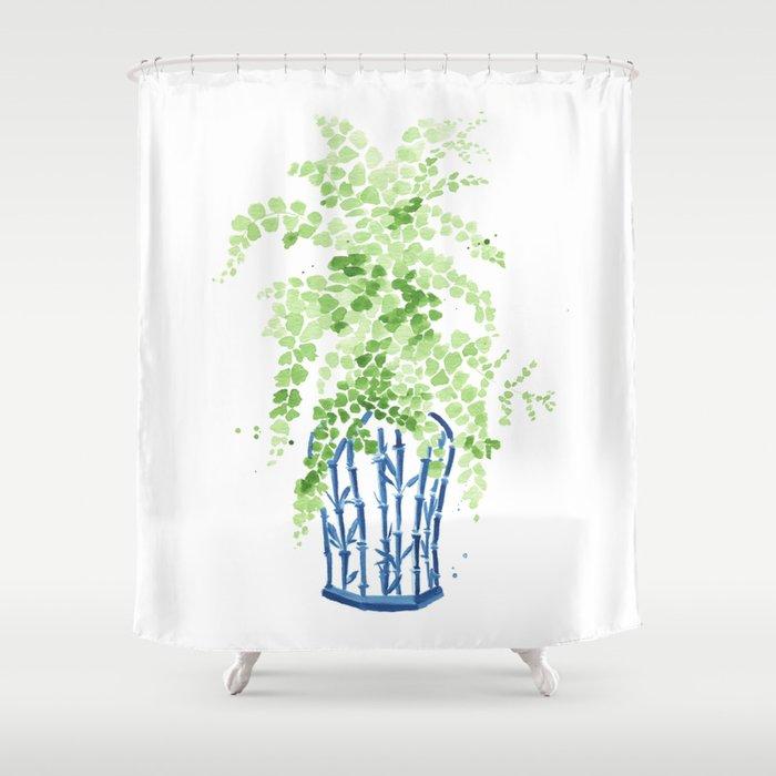 Wonderful Fern Shower Curtain Contemporary - Bathtub for Bathroom ...
