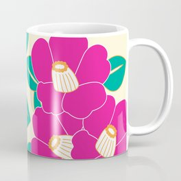 Japanese Style Camellia - Pink and White Coffee Mug