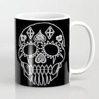 led zeppelin Mugs featuring LED Skull by Max Wellsman
