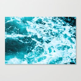 Deep Turquoise Sea - Nature Photography Canvas Print