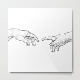 Creation of Adam Metal Print