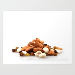 Pile Of Assorted Nuts Art Print