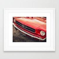 mustang Framed Art Prints featuring Mustang  by Grafiko