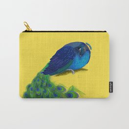 The Beauty That Sleeps - Vertical Peacock Painting Carry-All Pouch