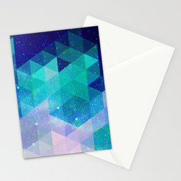 Geometric and electric Stationery Cards
