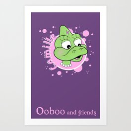 Camille - Bubbles Design - Ooboo and friends Art Print
