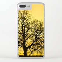 A glow over Sheriff Hutton Clear iPhone Case