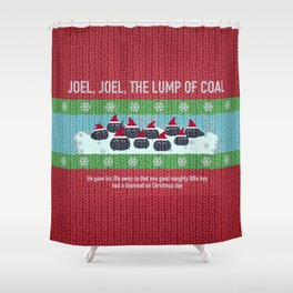 Lump of Coal / Christmas Sweater Shower Curtain