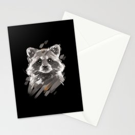 Raccoon Lover Portrait Stationery Cards