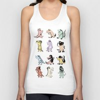 dinosaurs Tank Tops featuring Dinosaurs by BlandinePannequin