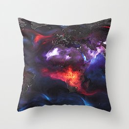 Beauty of Pollution / Aerosol Earth - Middle Part Throw Pillow