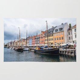 Nyhavn waterfront in Copenhagen Rug