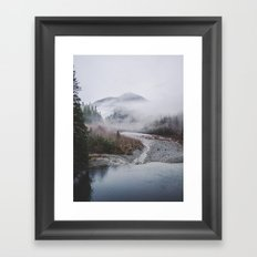 Fog Mountain Framed Art Print