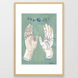 Palmistry Hand Illustration Framed Art Print