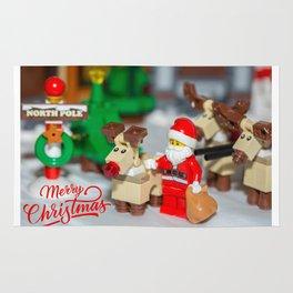 Santa and Rudolf Rug